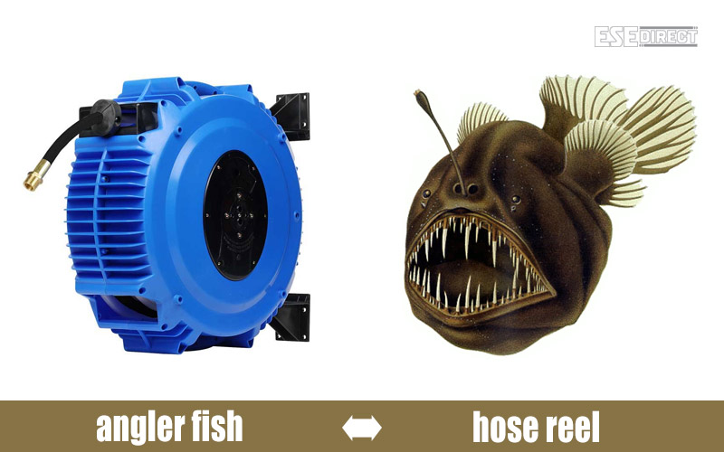 An angler fish pretending to be a Recoila hose reel