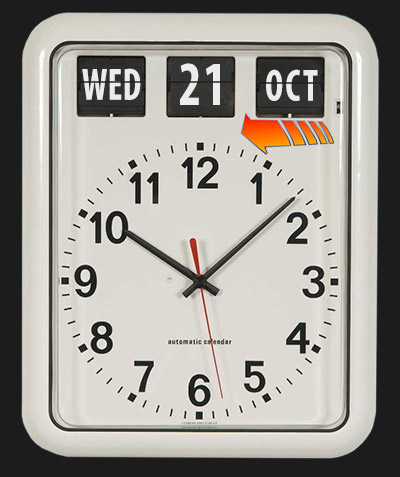 Quartz movement clock goes back to the future. Wednesday 21st October 2015