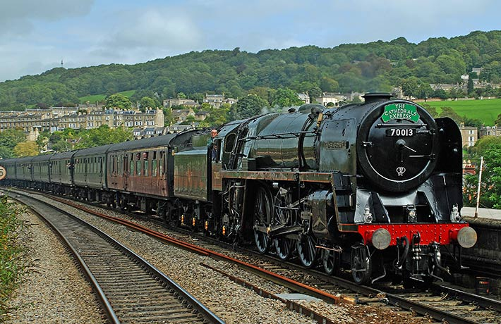 The Cathedrals Express steam train