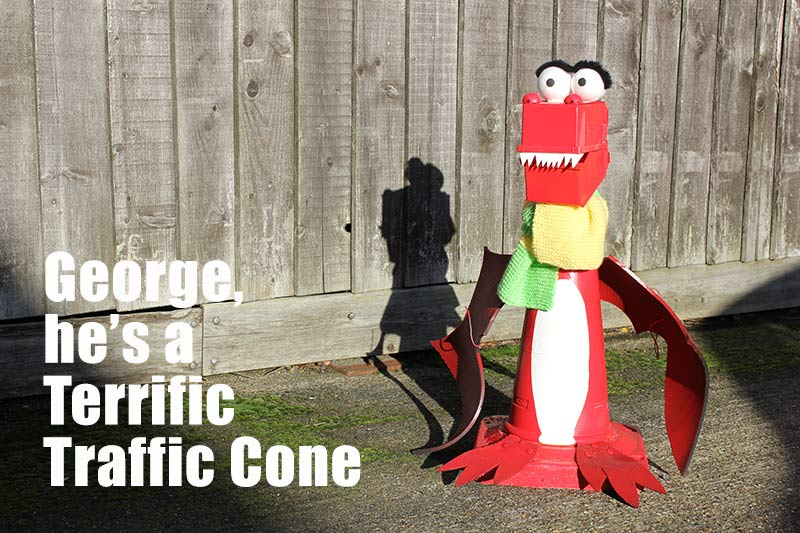 George, he's a terrific traffic cone