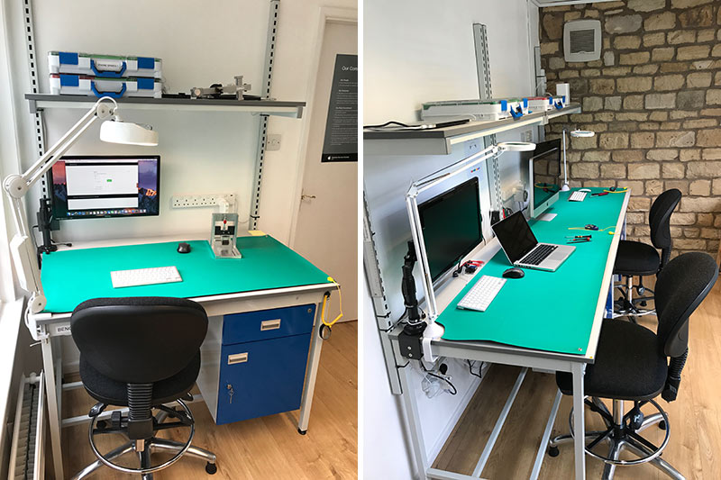ESD Workbenches and ESD chairs in Ubertechs workshop