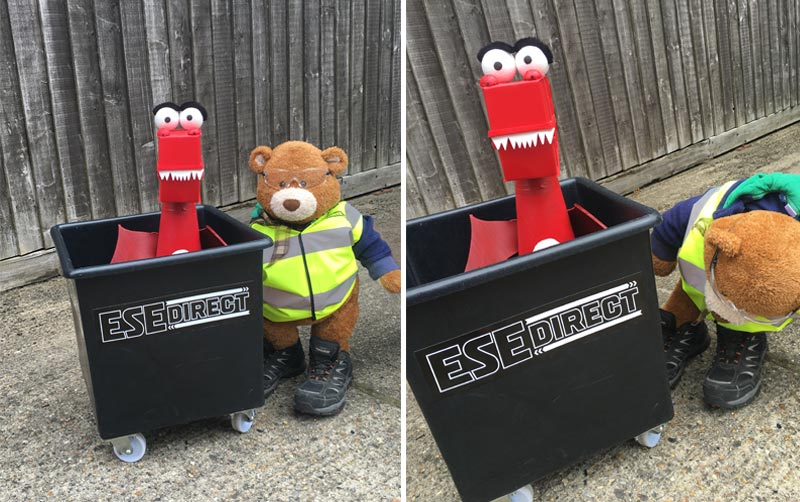 Health and Safety Bears ensures the safety of George's tapered truck