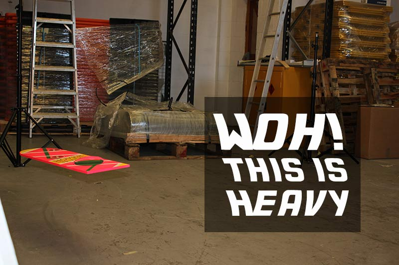 Woh! This is heavy - a hoverboard in the ESE Direct warehouse
