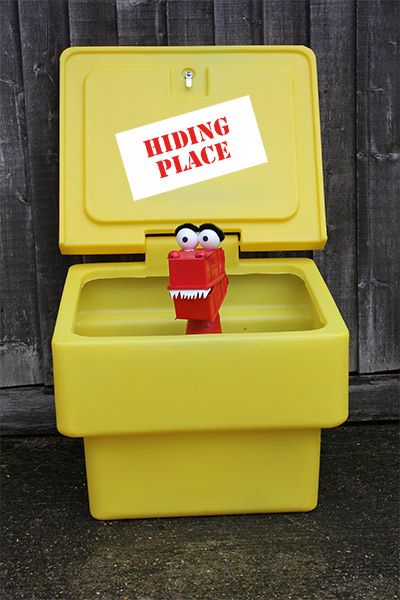 Grit Bins - perfect for hiding in during a zombie attack