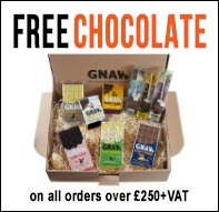 Free chocolate with orders over £250+VAT