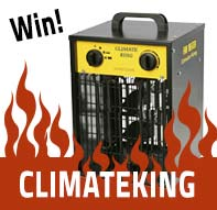 Win a Climate King 3kw heater