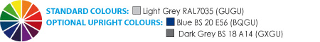 Light Grey, Blue, Dark Grey