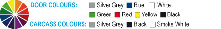 Grey, Blue, White, Green, Red, Yellow, Black, Solver