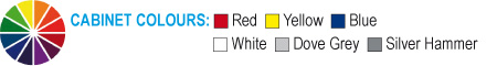 Red, Yellow, Blue, White, Grey, Silver