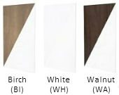 Birch, White, Walnut