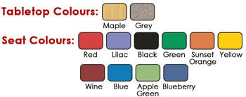 Colour Swatches for Worktop & Seats
