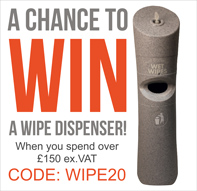 Enter our draw to win a wipe dispenser and wipes with orders over £150