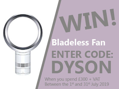 Enter our draw to win a Dyson fan when you spend £300 at ESE Direct with code DYSON
