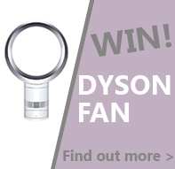 Win this Dyson fan when you spend £300+VAT. Offer code DYSON