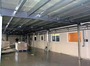 Mezzanine floor under construction on second site