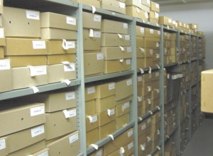 Industrial rolled edge shelving - not taken at clients actual location