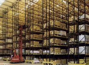 High bay narrow aisle pallet racking (representation of product used, not taken at the clients premises)