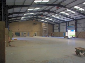 The warehouse prior to work