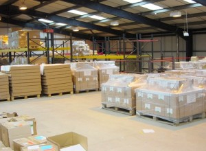 Mezzanine floor after completion with pallet gate