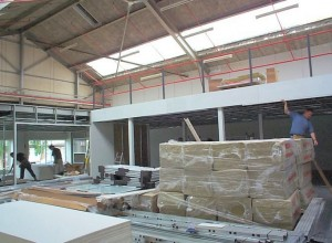 Mezzanine floor and fire rating under construction