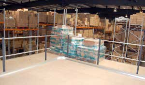Extra storage created by a mezzanine floor