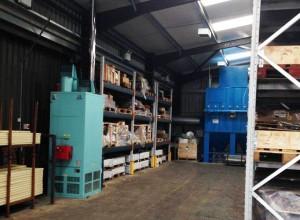 Heavy duty pallet racking installation in warehouse
