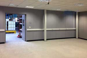 Solid double skin steel partitioning
