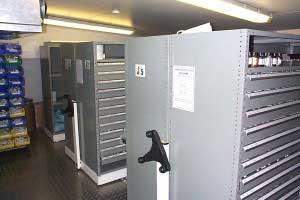 Bespoke mobile shelving system