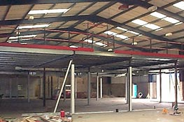 Mezzanine floor under construction
