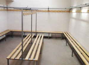 Thurston Golf Club changing room bench installation