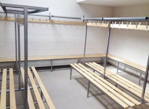Installation of Versa changing room benches