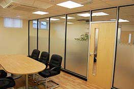 Choice Homes office partitioning