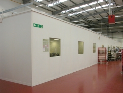 Single Skin Steel partitioning, Industrial Partitions