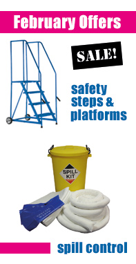 February Special Offer - Safety steps and platforms and spill control products