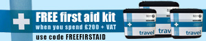 Free first aid kit when you spend £200 + VAT - use code FREEFIRSTAID