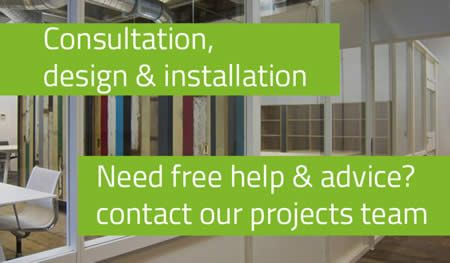 Consultation, design and installation. Need free help and advice? Contact our projects team