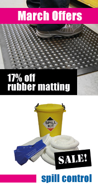 March Special Offer - Rubber matting and spill control products
