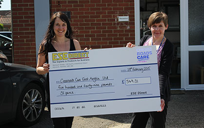 Crossroads Care, East Anglia - Charity Winners February 2015