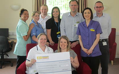 Goole Neuro Rehabilitation Centre with their cheque - Charity Winners March 2015