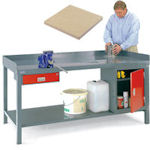 H/Duty fully welded Bench, Birch Top