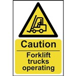 Warning Fork Lift Trucks Sign