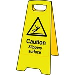 Caution Slippery Surface Floor Sign Stand