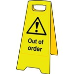 Caution Out of Order Floor Sign Stand