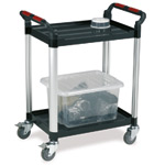 Utility Tray Trolleys with 2 Shelves