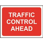 Traffic Control Ahead Road Sign