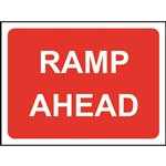 Ramp Ahead Road Sign