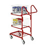 3 Tier Mailroom Trolleys With 2 Removable Baskets