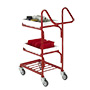 3 Tier Mailroom Trolleys With 2 Removable Steel Trays