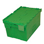 E360330 - Green plastic container with hinged lid