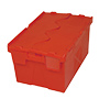 E375995 - red plastic container with hinged lid